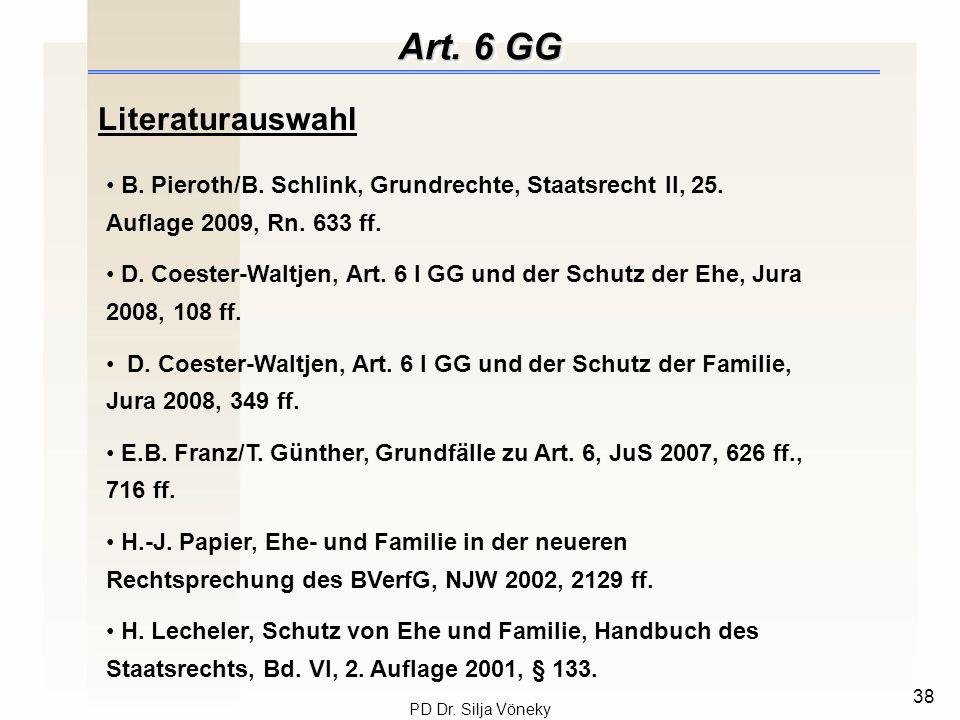 Art. 6 GG Literaturauswahl