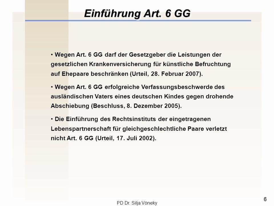 Einführung Art. 6 GG