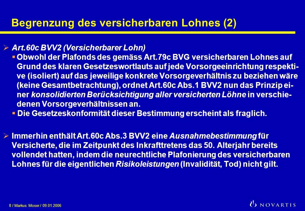 Begrenzung des versicherbaren Lohnes (2)