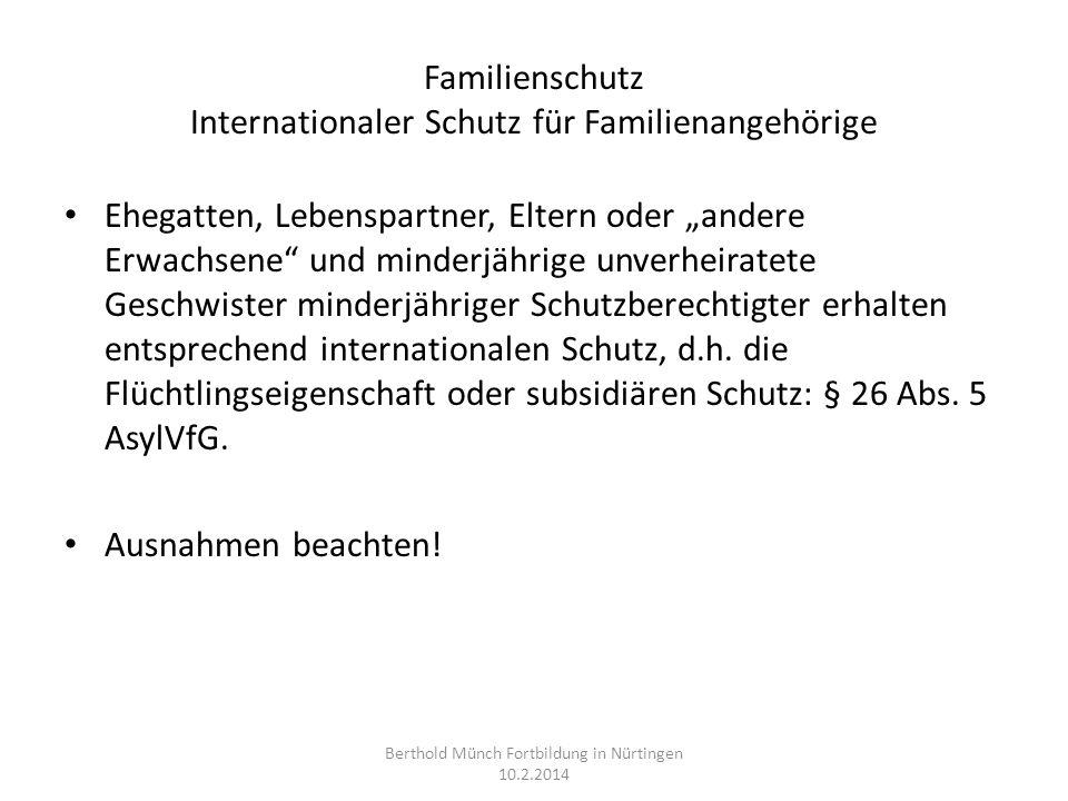 Familienschutz Internationaler Schutz für Familienangehörige