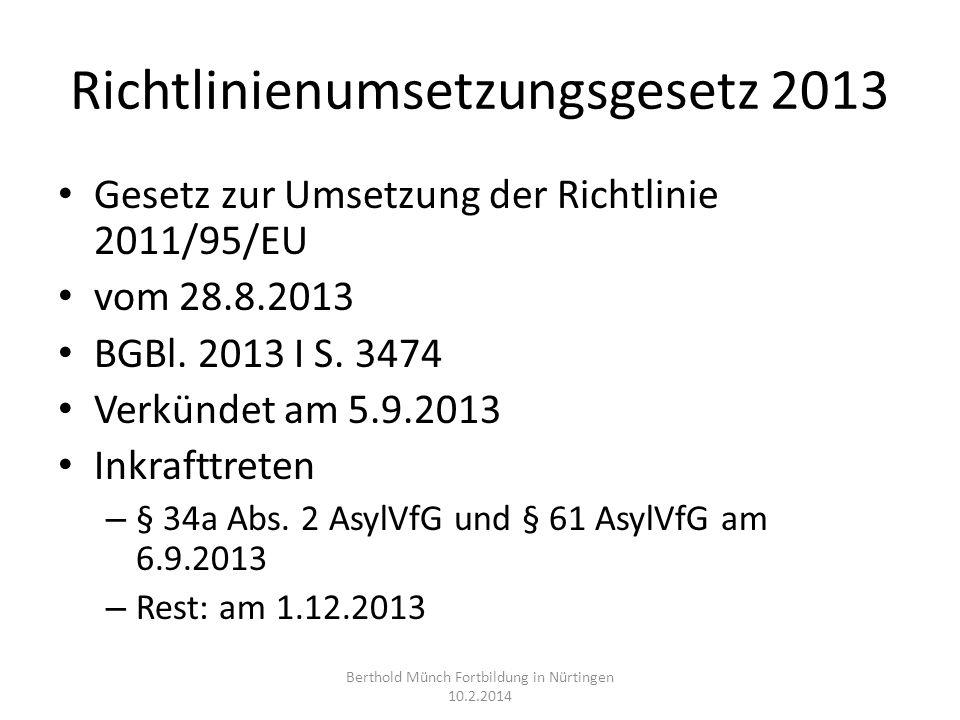 Richtlinienumsetzungsgesetz 2013