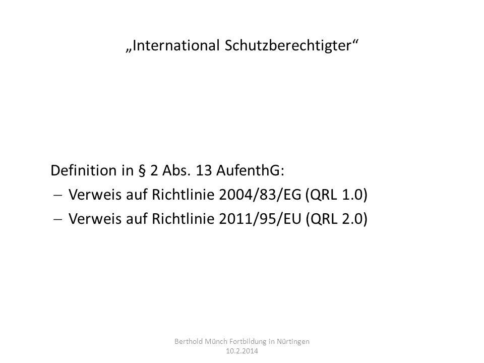 """""""International Schutzberechtigter"""