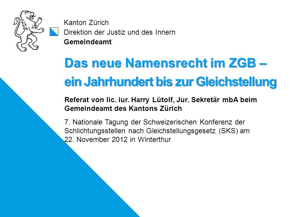 Vorgeschichte bis ins 18. Jh.: Neues Namensrecht 2011:
