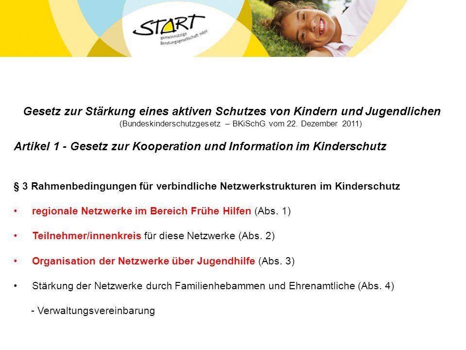 Artikel 1 - Gesetz zur Kooperation und Information im Kinderschutz