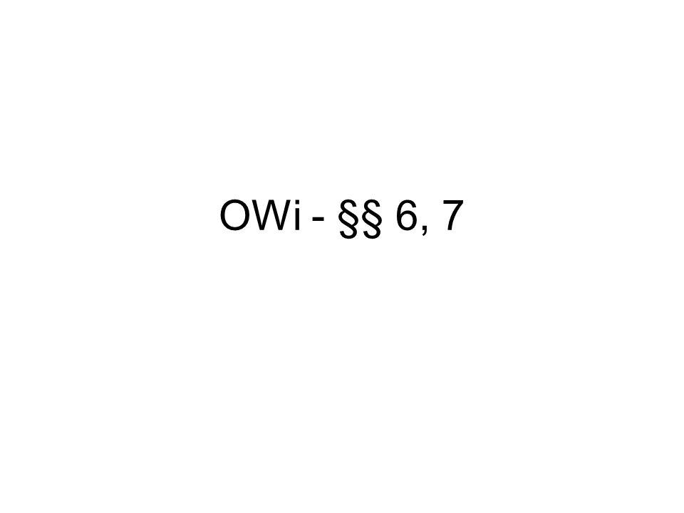 OWi - §§ 6, 7