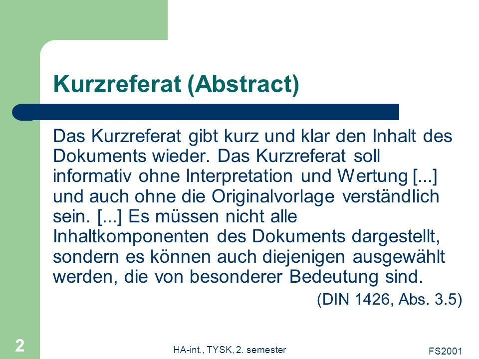 Kurzreferat (Abstract)