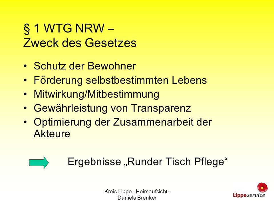 § 1 WTG NRW – Zweck des Gesetzes