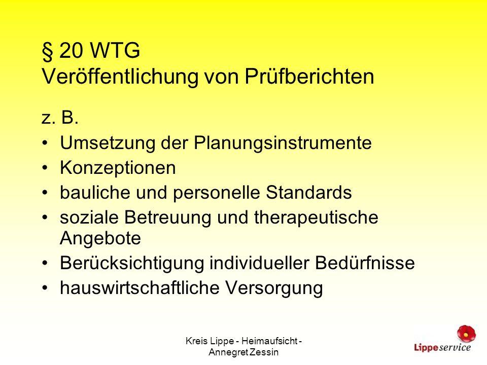 § 20 WTG Veröffentlichung von Prüfberichten