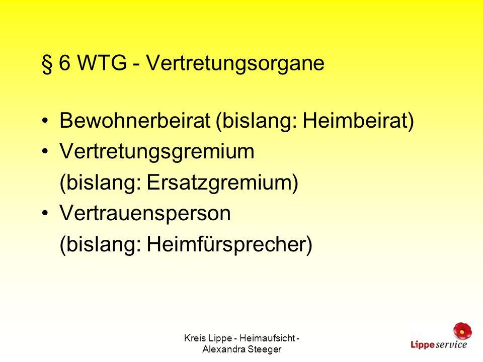 § 6 WTG - Vertretungsorgane