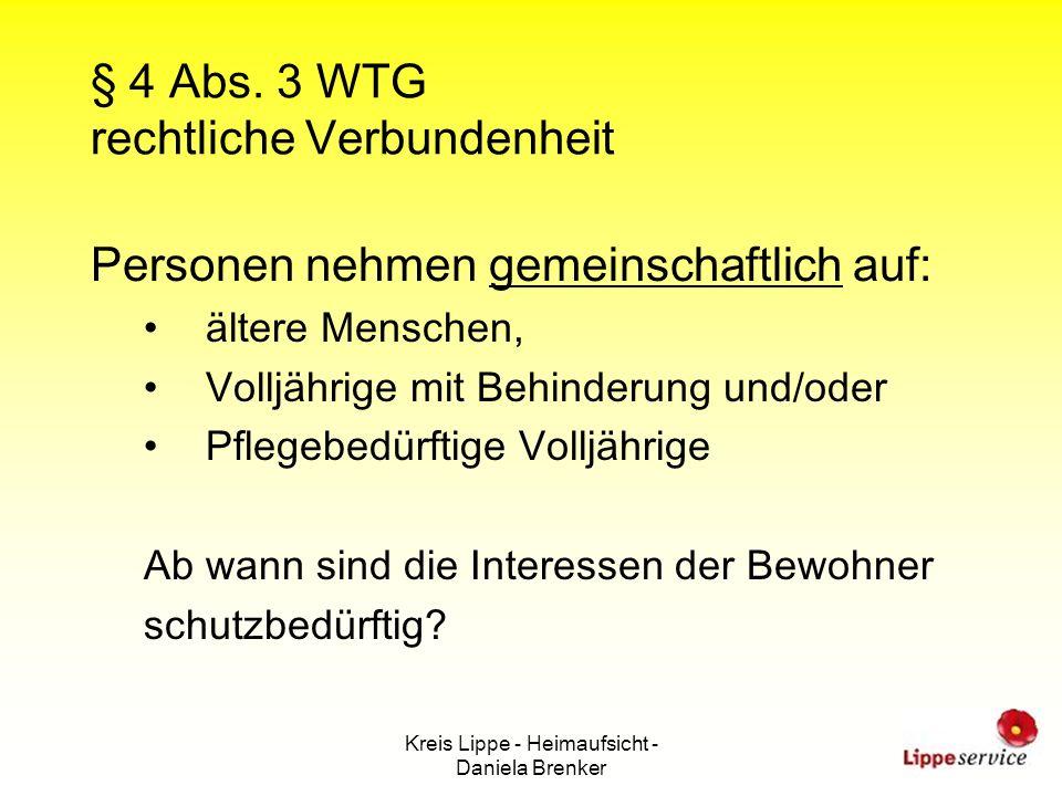 § 4 Abs. 3 WTG rechtliche Verbundenheit