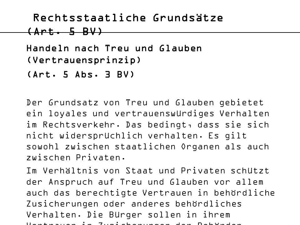 Rechtsstaatliche Grundsätze (Art. 5 BV)