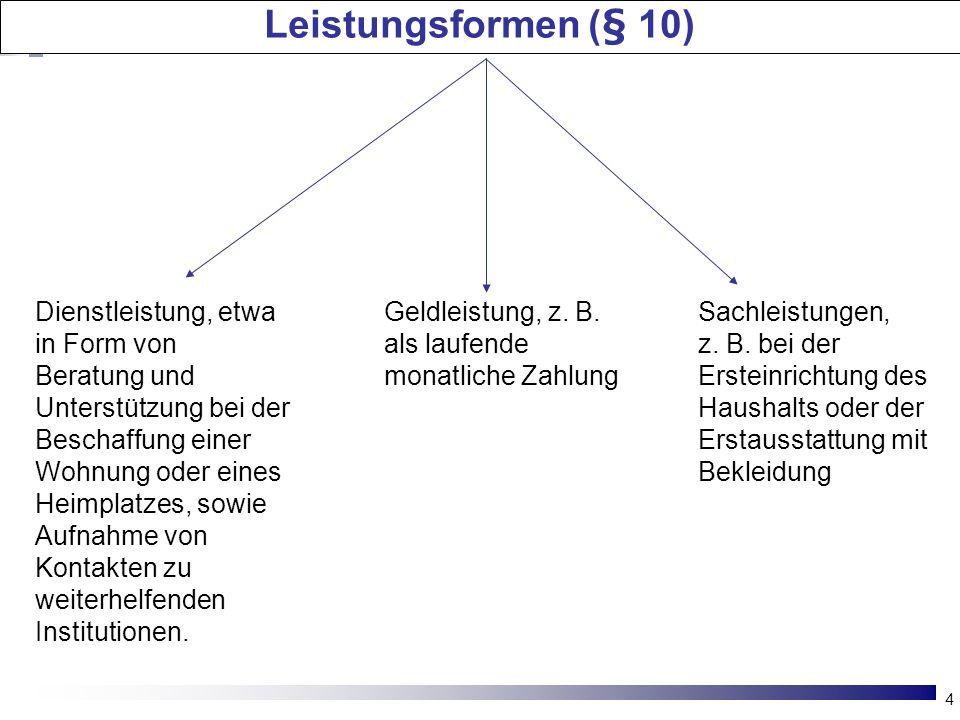 Leistungsformen (§ 10)
