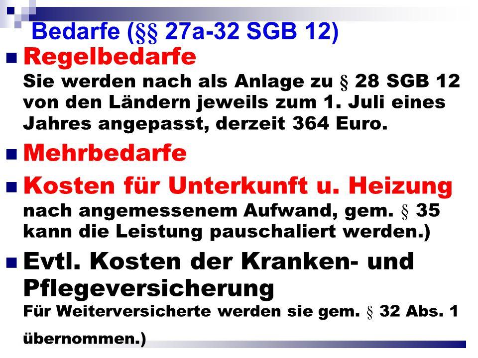 Bedarfe (§§ 27a-32 SGB 12)