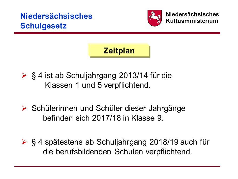 § 4 ist ab Schuljahrgang 2013/14 für die