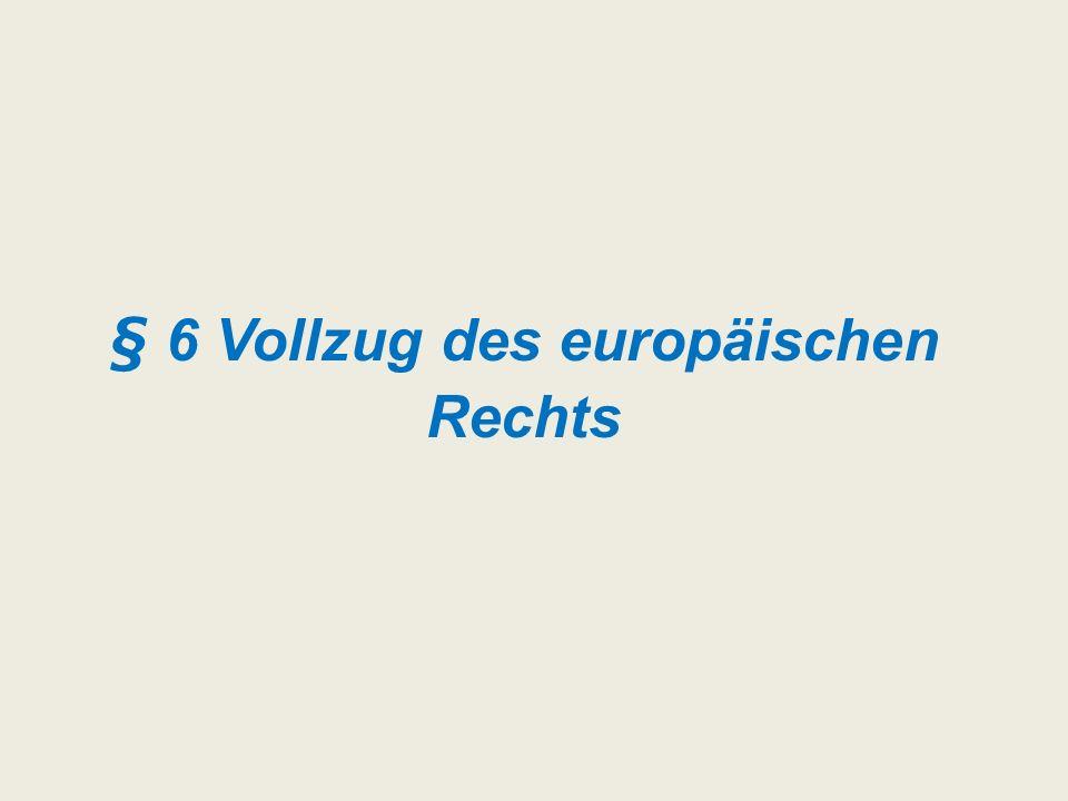 § 6 Vollzug des europäischen