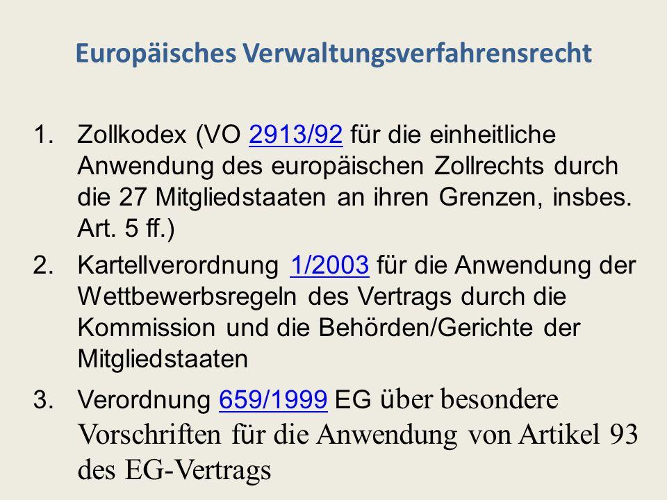 Europäisches Verwaltungsverfahrensrecht