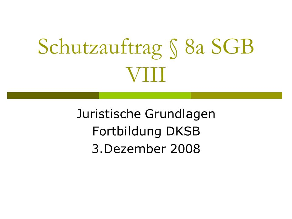 Schutzauftrag § 8a SGB VIII