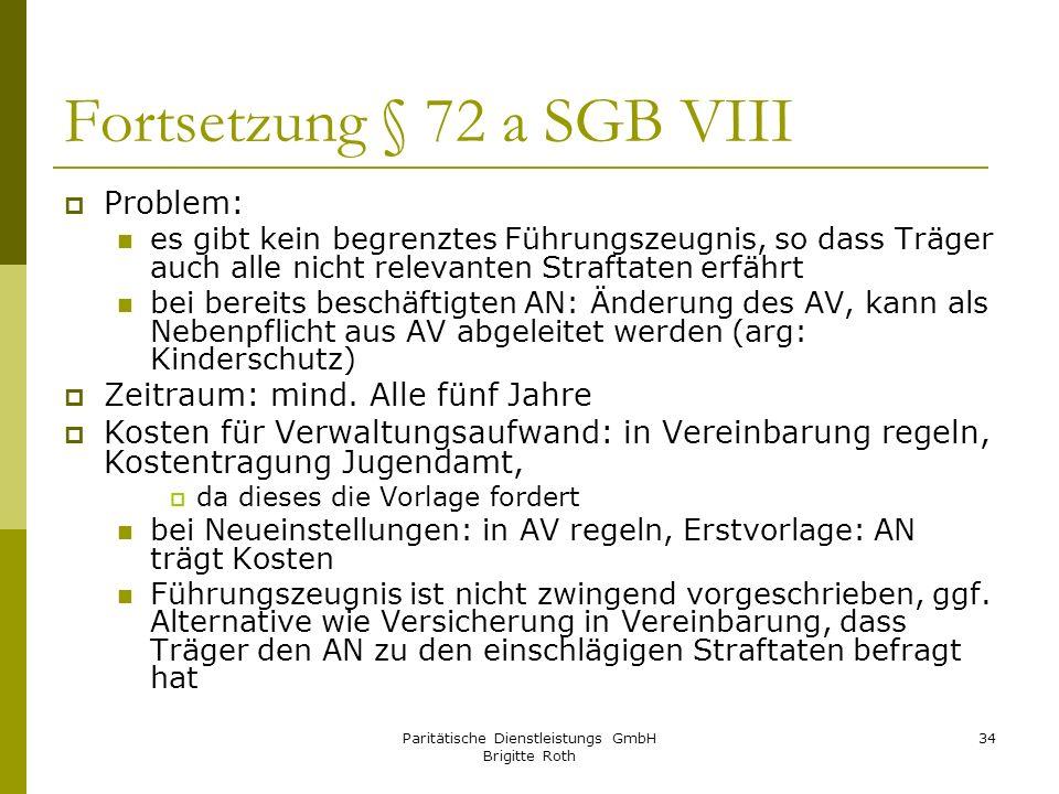 Fortsetzung § 72 a SGB VIII