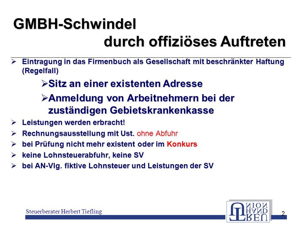 GMBH-Schwindel durch offiziöses Auftreten