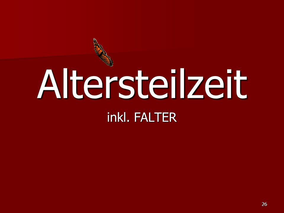 Altersteilzeit inkl. FALTER