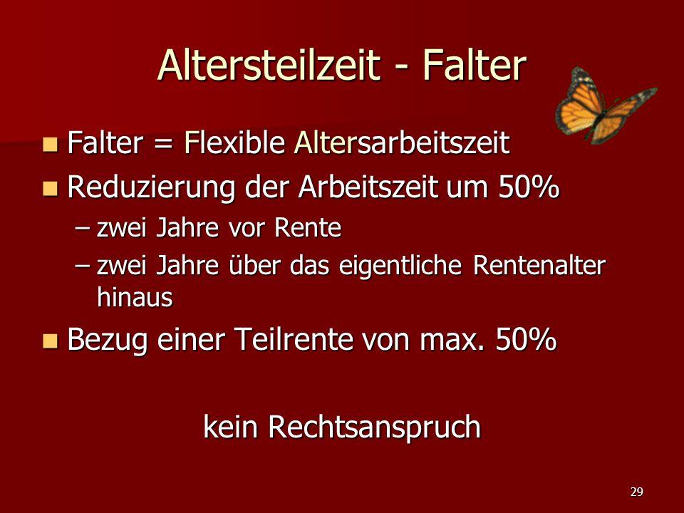 Altersteilzeit - Falter