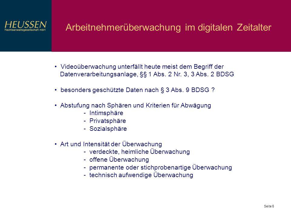 Arbeitnehmerüberwachung im digitalen Zeitalter