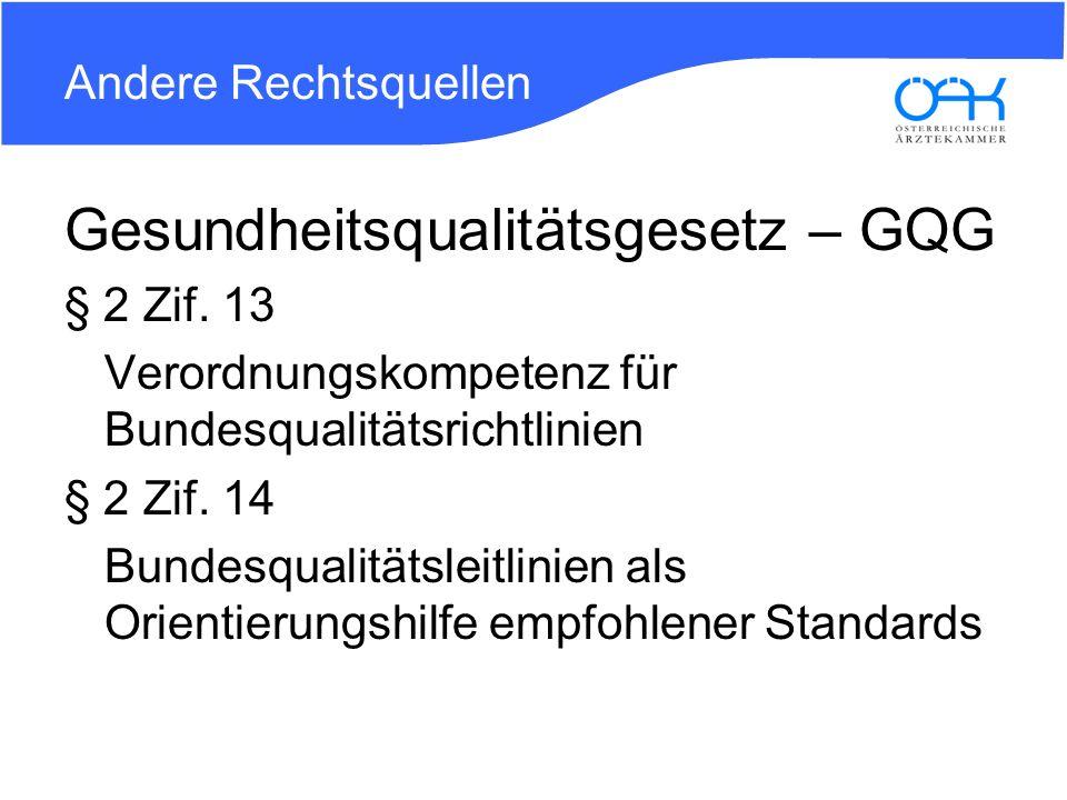 Gesundheitsqualitätsgesetz – GQG