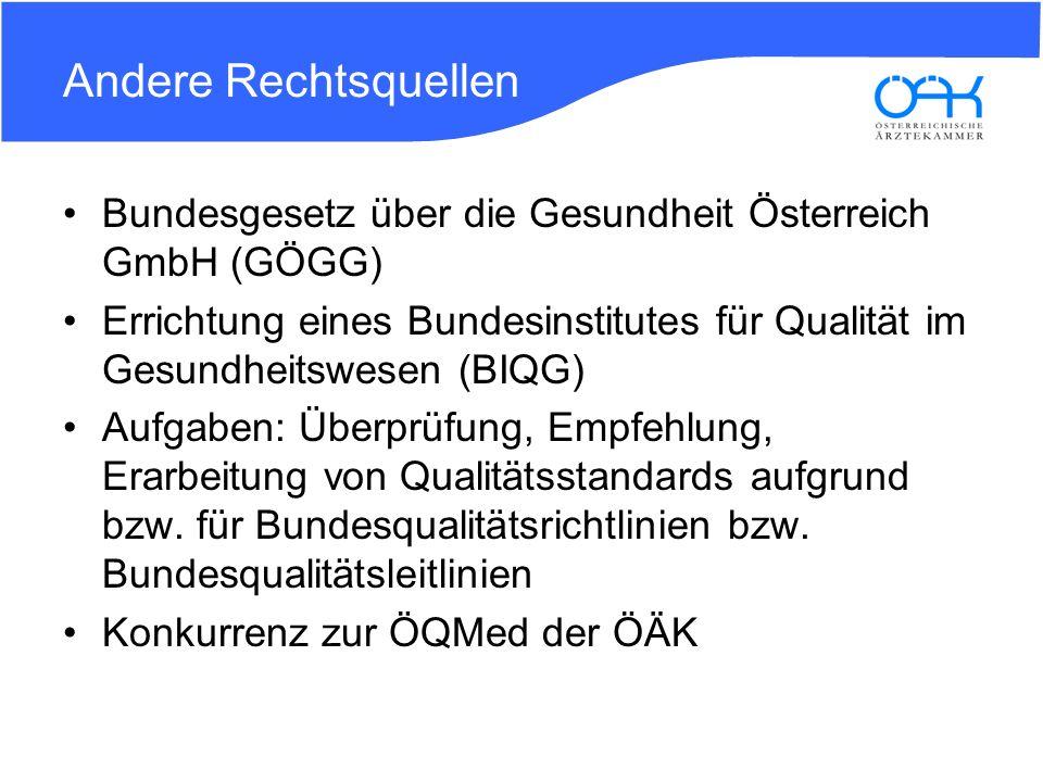 Andere Rechtsquellen Bundesgesetz über die Gesundheit Österreich GmbH (GÖGG)