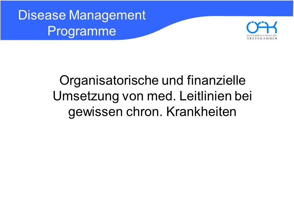 Disease Management Programme