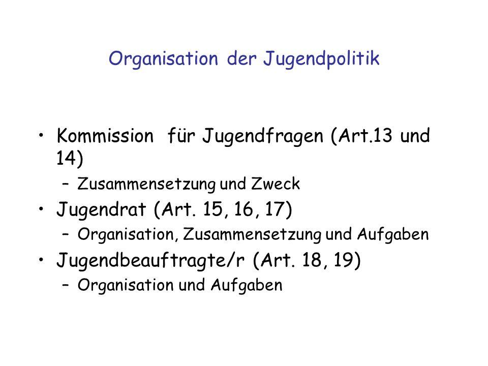 Organisation der Jugendpolitik