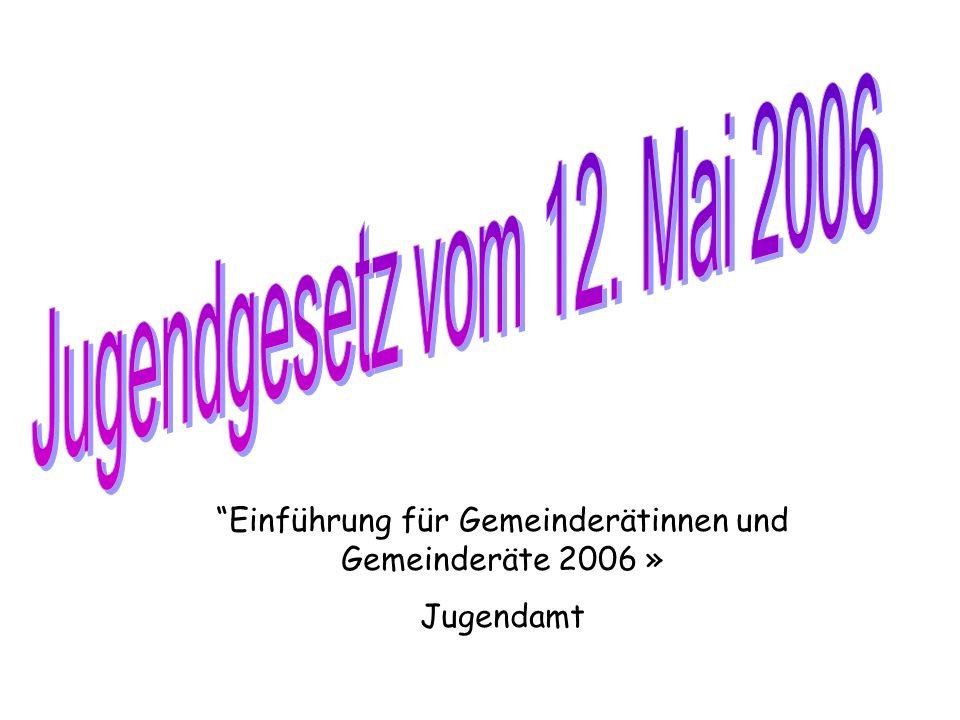 Einführung für Gemeinderätinnen und Gemeinderäte 2006 »