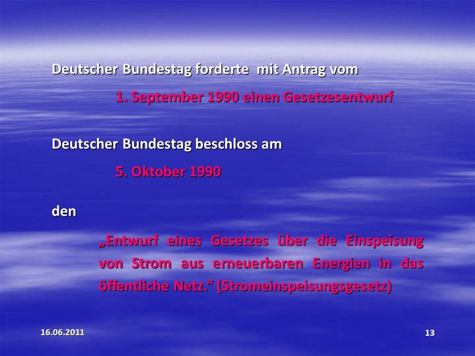 Deutscher Bundestag forderte mit Antrag vom