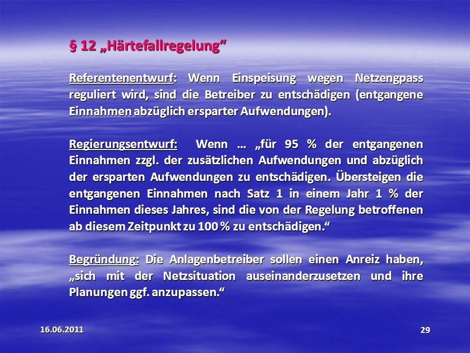 """§ 12 """"Härtefallregelung"""