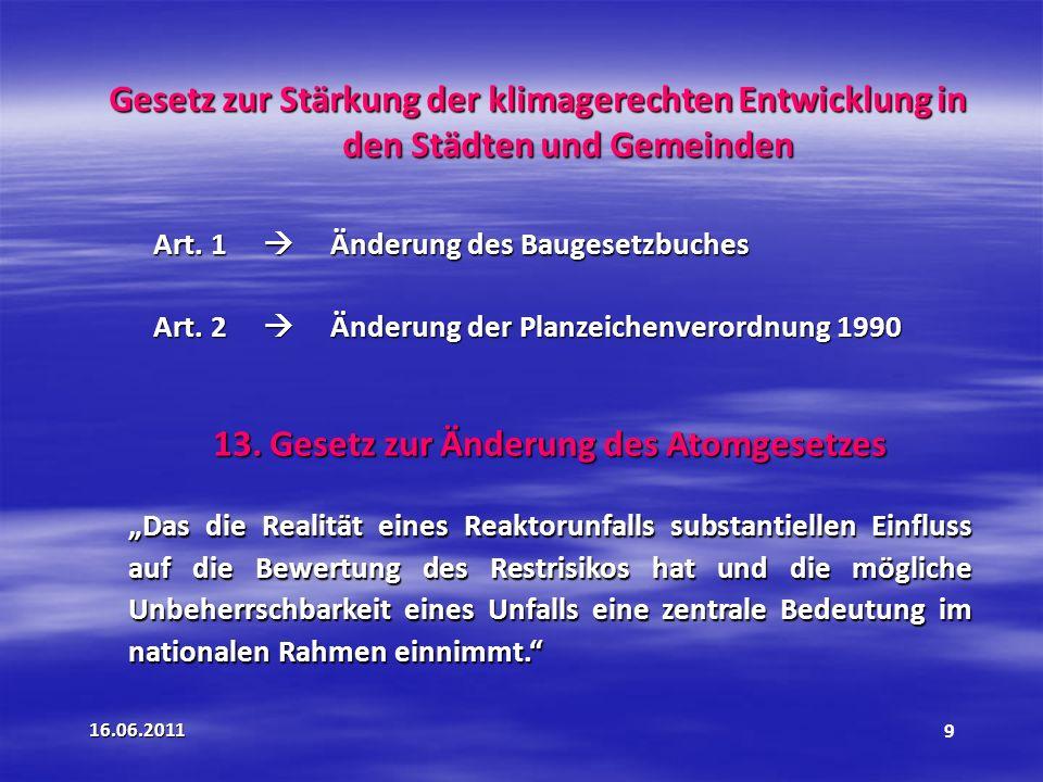 13. Gesetz zur Änderung des Atomgesetzes