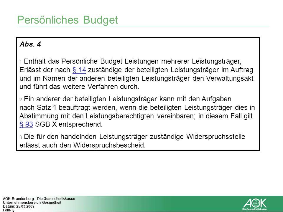 Persönliches Budget Abs. 4