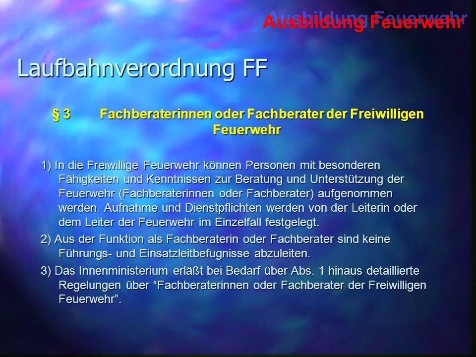 Laufbahnverordnung FF