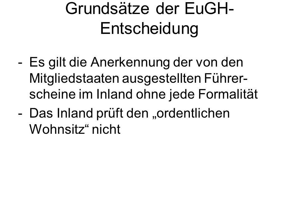 Grundsätze der EuGH-Entscheidung