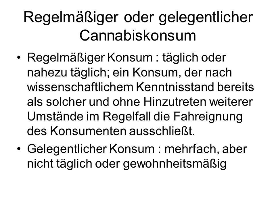 Regelmäßiger oder gelegentlicher Cannabiskonsum