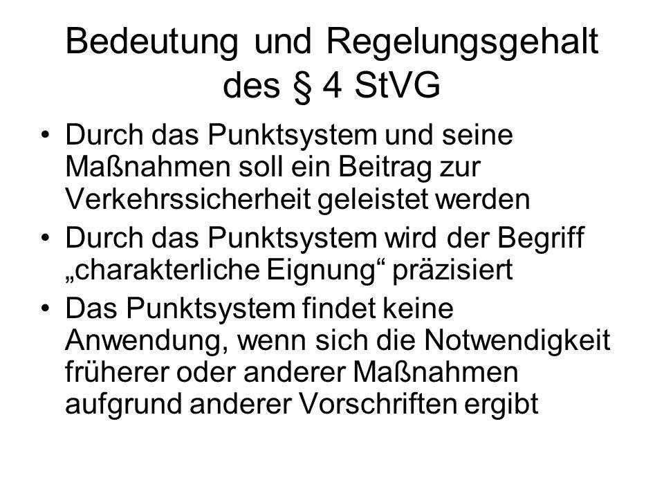 Bedeutung und Regelungsgehalt des § 4 StVG