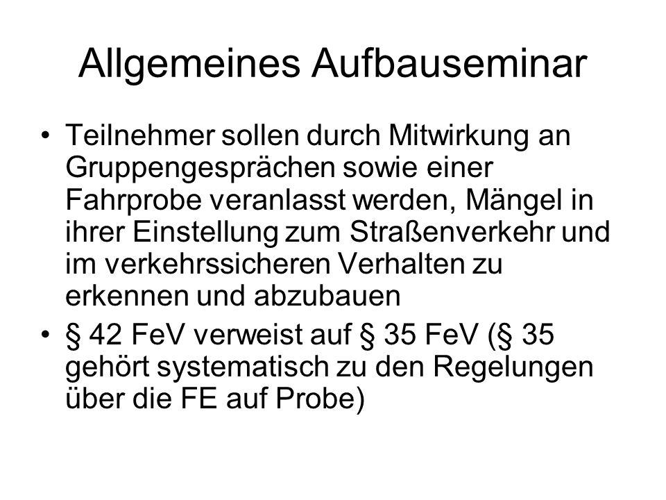 Allgemeines Aufbauseminar
