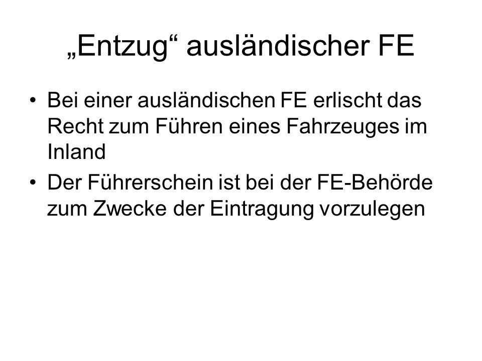 """""""Entzug ausländischer FE"""