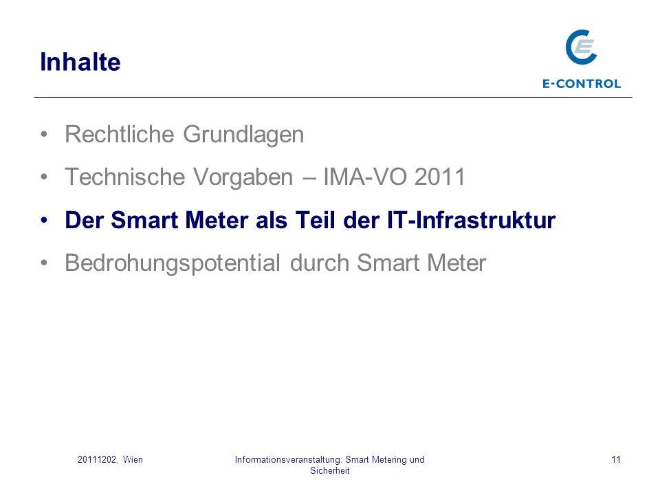 Informationsveranstaltung: Smart Metering und Sicherheit