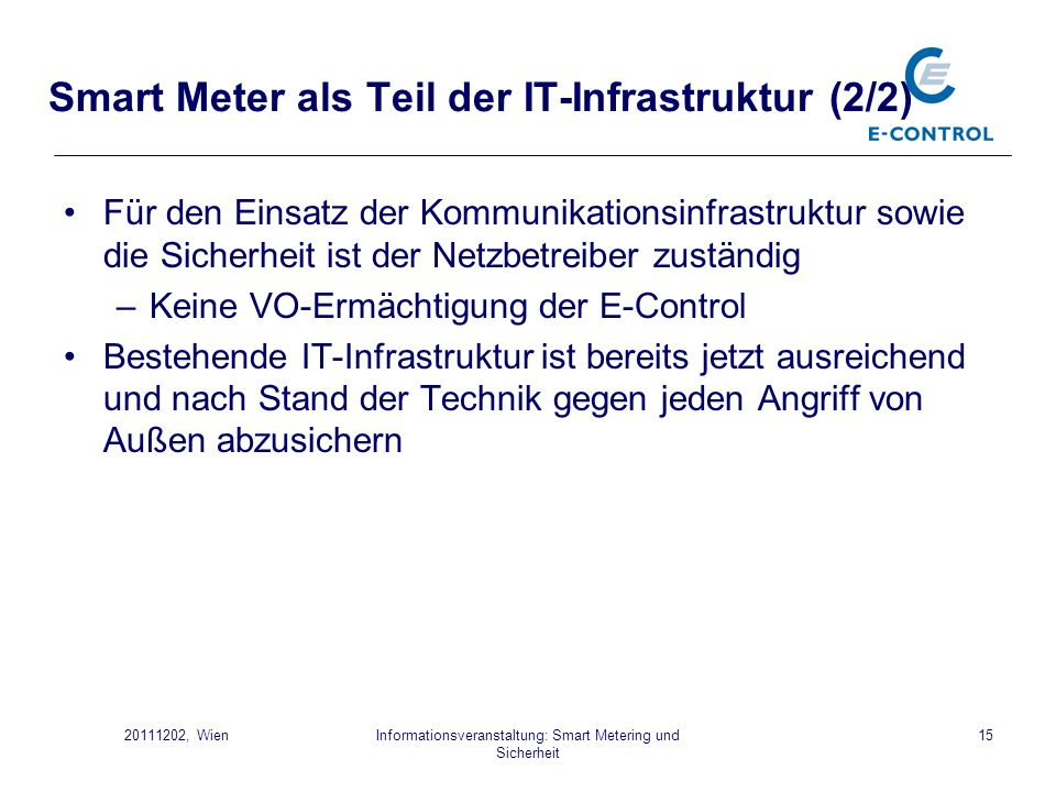Smart Meter als Teil der IT-Infrastruktur (2/2)