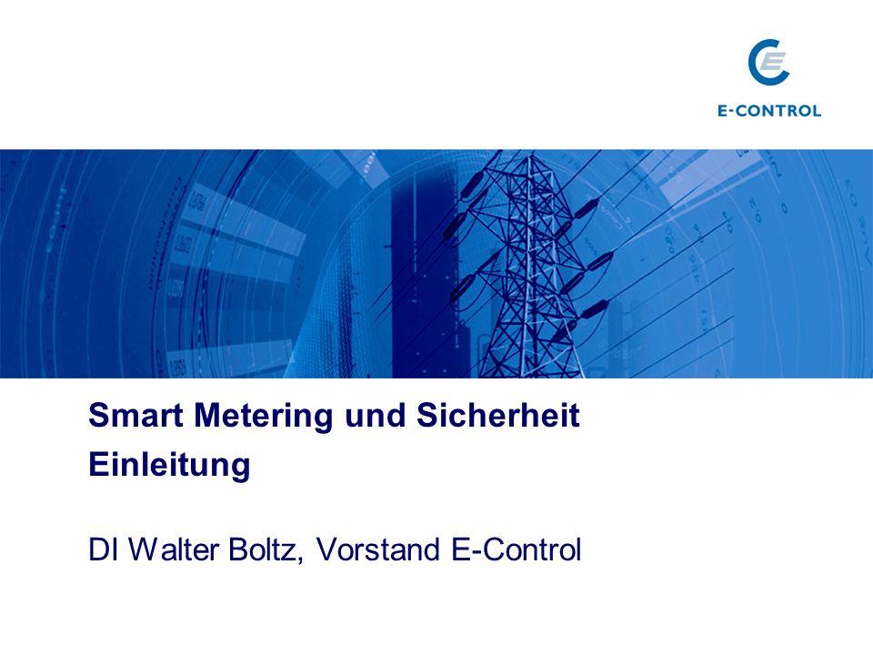 Smart Metering und Sicherheit Einleitung