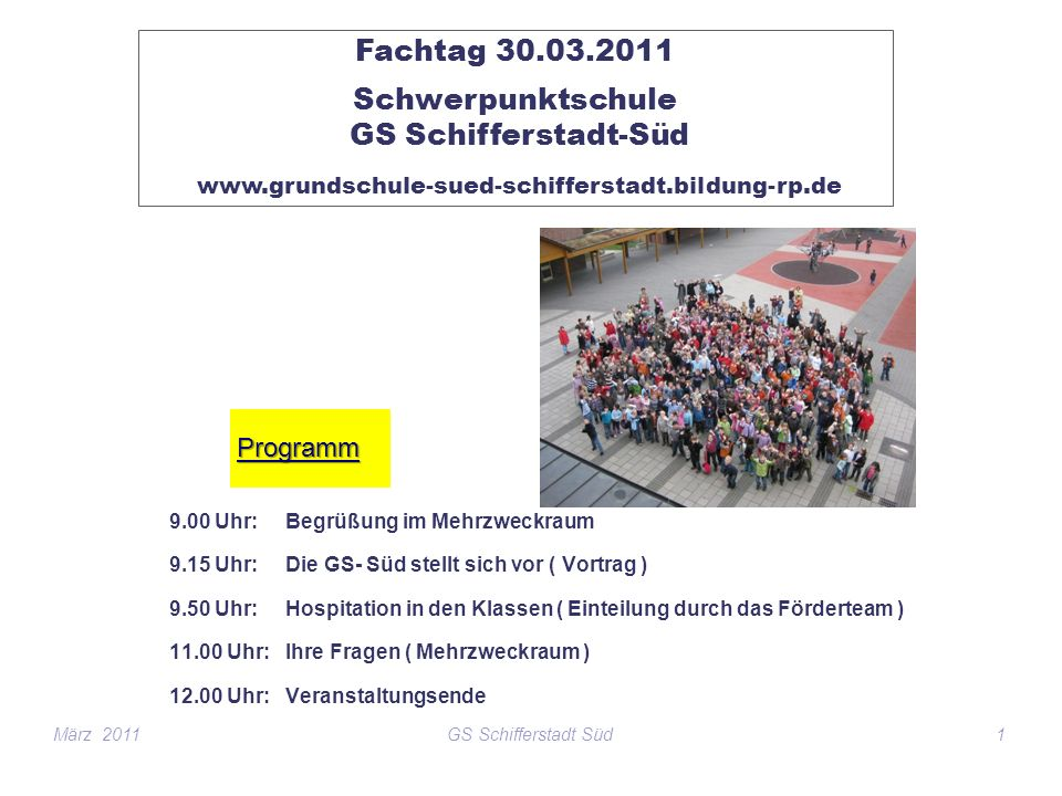 Schwerpunktschule GS Schifferstadt-Süd