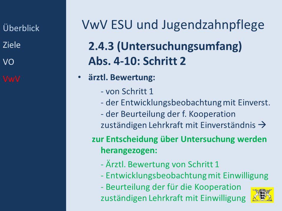 VwV ESU und Jugendzahnpflege
