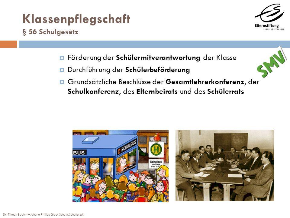 Klassenpflegschaft § 56 Schulgesetz
