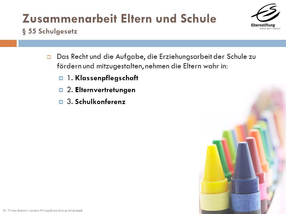 Zusammenarbeit Eltern und Schule § 55 Schulgesetz