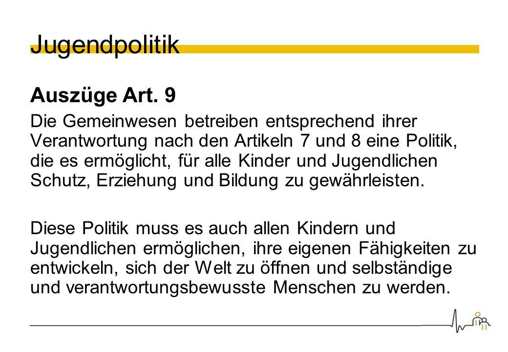 Jugendpolitik Auszüge Art. 9