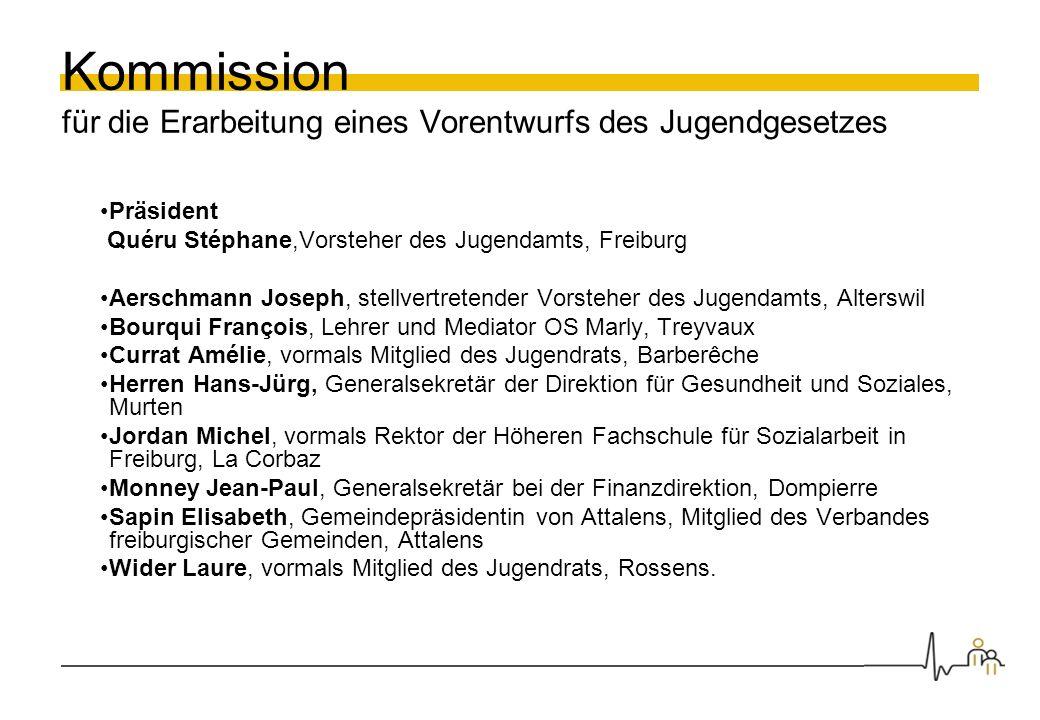 Kommission für die Erarbeitung eines Vorentwurfs des Jugendgesetzes